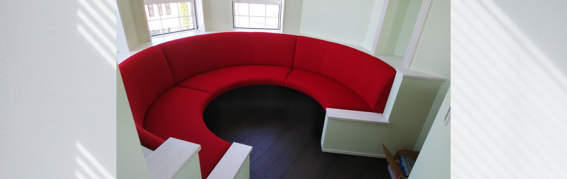 ソファ 円形 赤